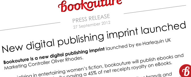 Bookouture launch - press release - New digital publishing imprint