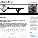 Lindsay J. Pryor - Blog prior to relaunch
