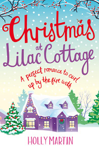 Christmas at Lilac Cottage Holly Martin Chick Lit Romance Comedy Book Cover
